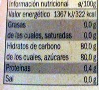 Miel de Azahar - Información nutricional - es