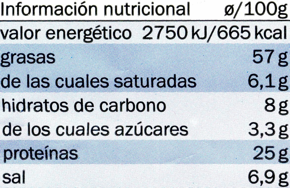 Pipas de girasol con sal - Informations nutritionnelles - es