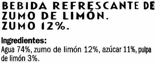 Limonada - Inhaltsstoffe - es