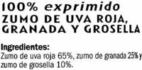 Zumo multifruta exprimido refrigerado - Ingredientes - es