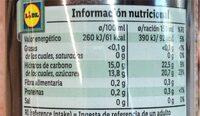 """Zumo multifruta exprimido refrigerado """"Vitafit"""" - Información nutricional - es"""