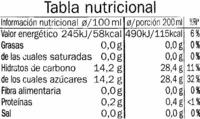 Zumo multifruta exprimido refrigerado - Información nutricional - es
