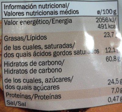 Galletas Espelta Cacao - Nutrition facts