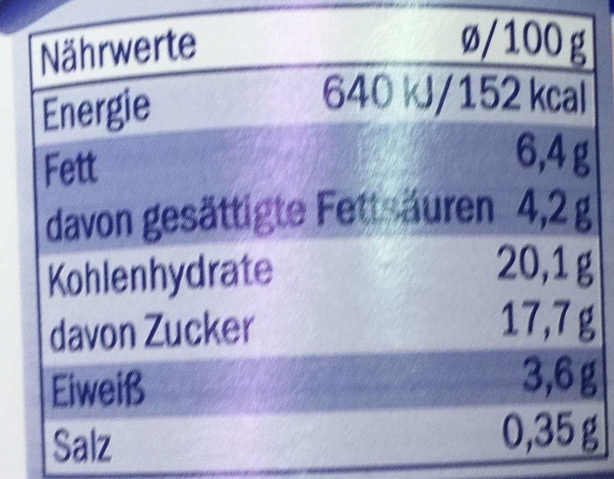 Mousse au caramel - Nutrition facts - fr