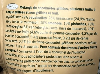 Nuts & fruit - Ingrédients