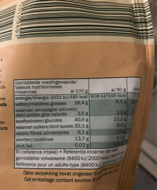 Nuts & Fruit - Información nutricional