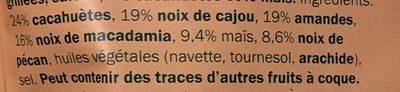 Mélange de Noix, Maïs & Noix de Macadamia - Ingredients