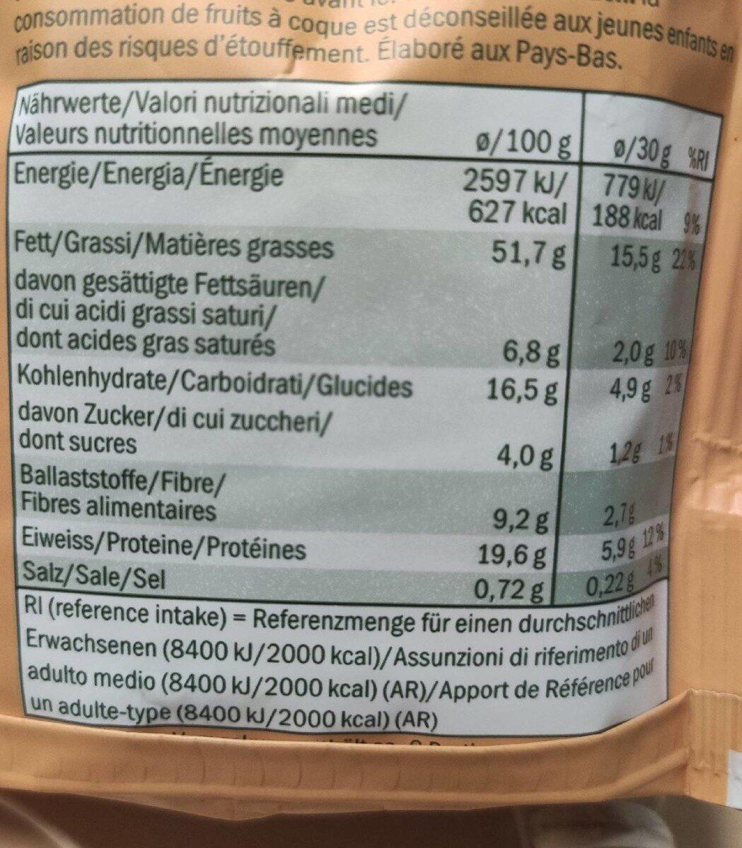 Mélange de noix maïs et noix de macadamia - Informations nutritionnelles - fr