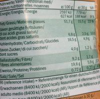 Mélange de Noix, Maïs & Noix de Macadamia - Informació nutricional