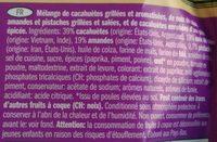 Mélange de noix et pistaches - Ingrédients