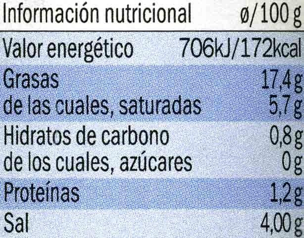 Paté de aceitunas Kalamon - Nutrition facts - es