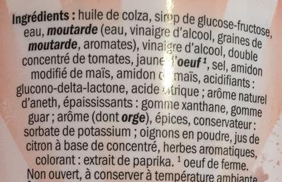 Sauce Burger - Ingredienti