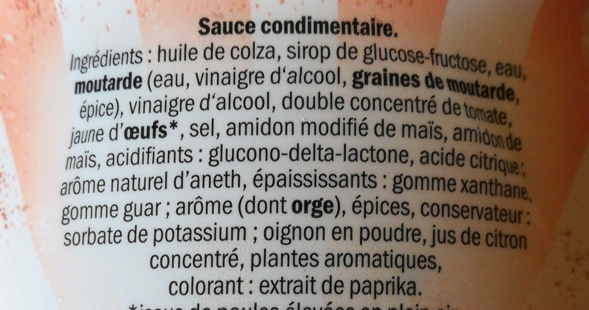 Sauce Burger - Ingredients - fr