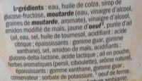 Sauce frites - Ingredienti - fr