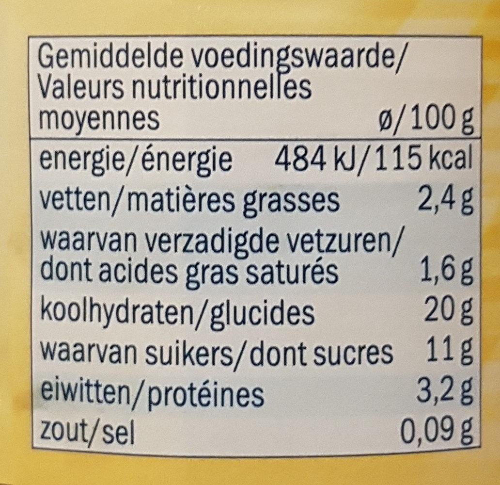 Riz au lait - Nutrition facts - fr