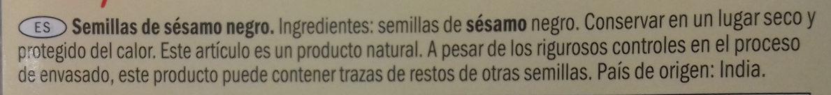 Sésamo natural - Ingredients