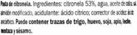 """Salsa de citronela """"VitAsia"""" - Ingredientes"""