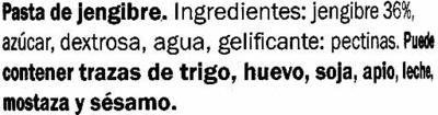 Salsa de jengibre - Ingrediënten - es