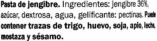 Salsa de jengibre - Ingredients