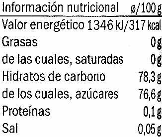 Salsa de jengibre - Informació nutricional