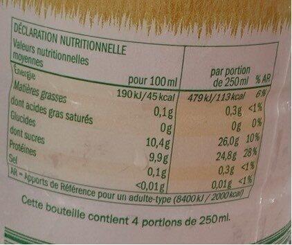 Solevita pomme - Informations nutritionnelles - fr