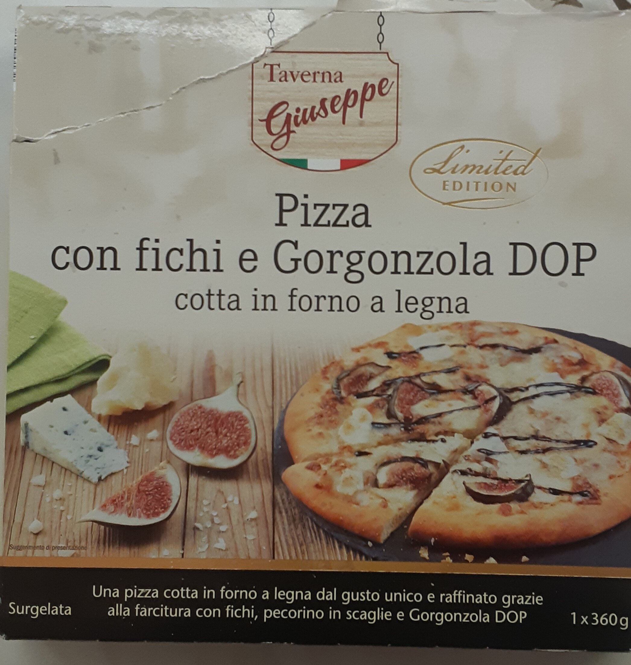 pizza con fichi e gorgonzola - Product