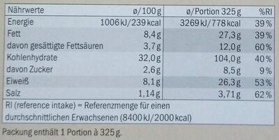 Pizza champignons et goût truffe - Informations nutritionnelles - de