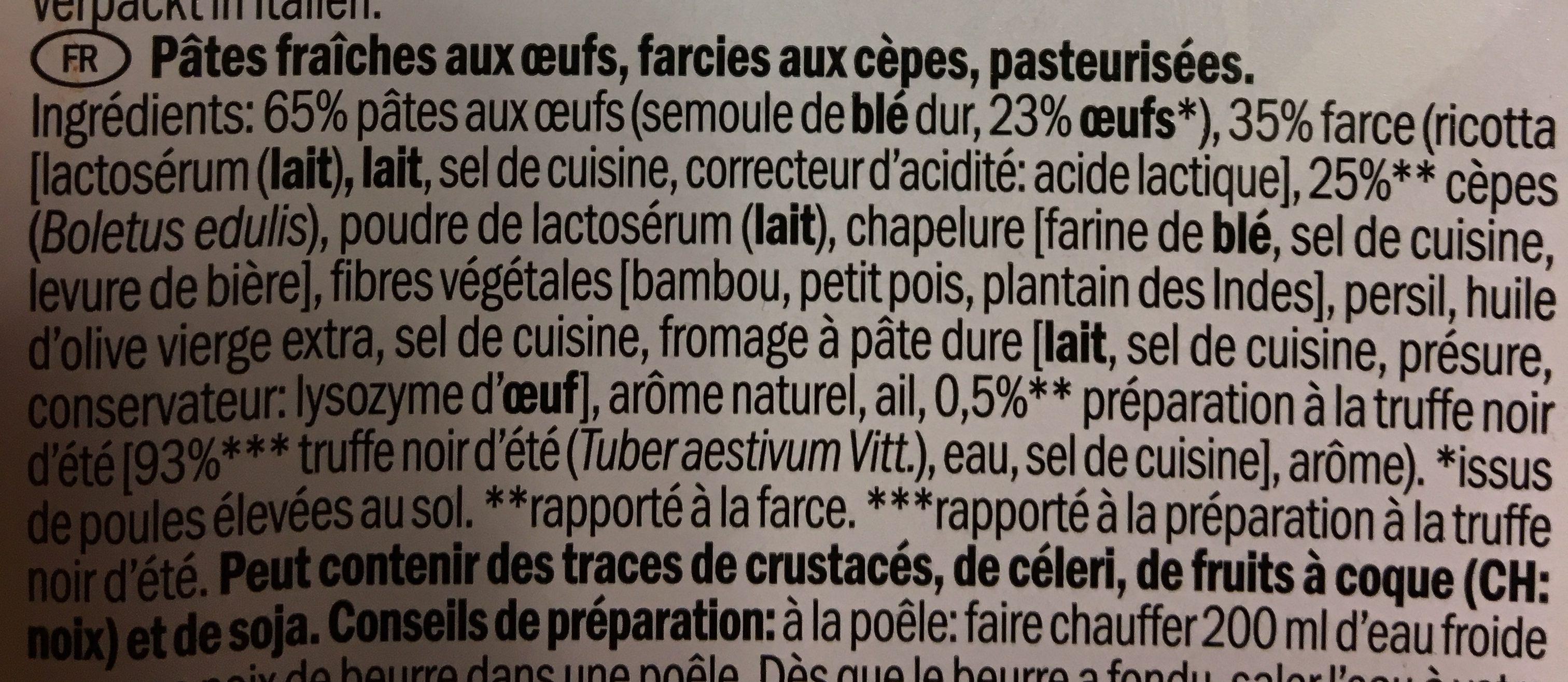 Pappardelle ripiene - Ingrédients - fr