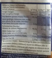 Cruspies barbecue flavour - Informations nutritionnelles