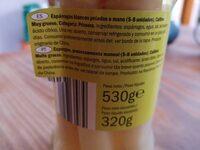 Esparragos - Ingredientes - es