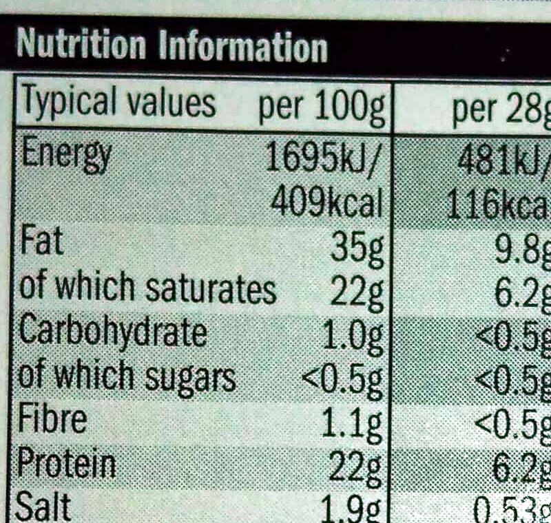cracked back pepper cheddar slices - Nutrition facts
