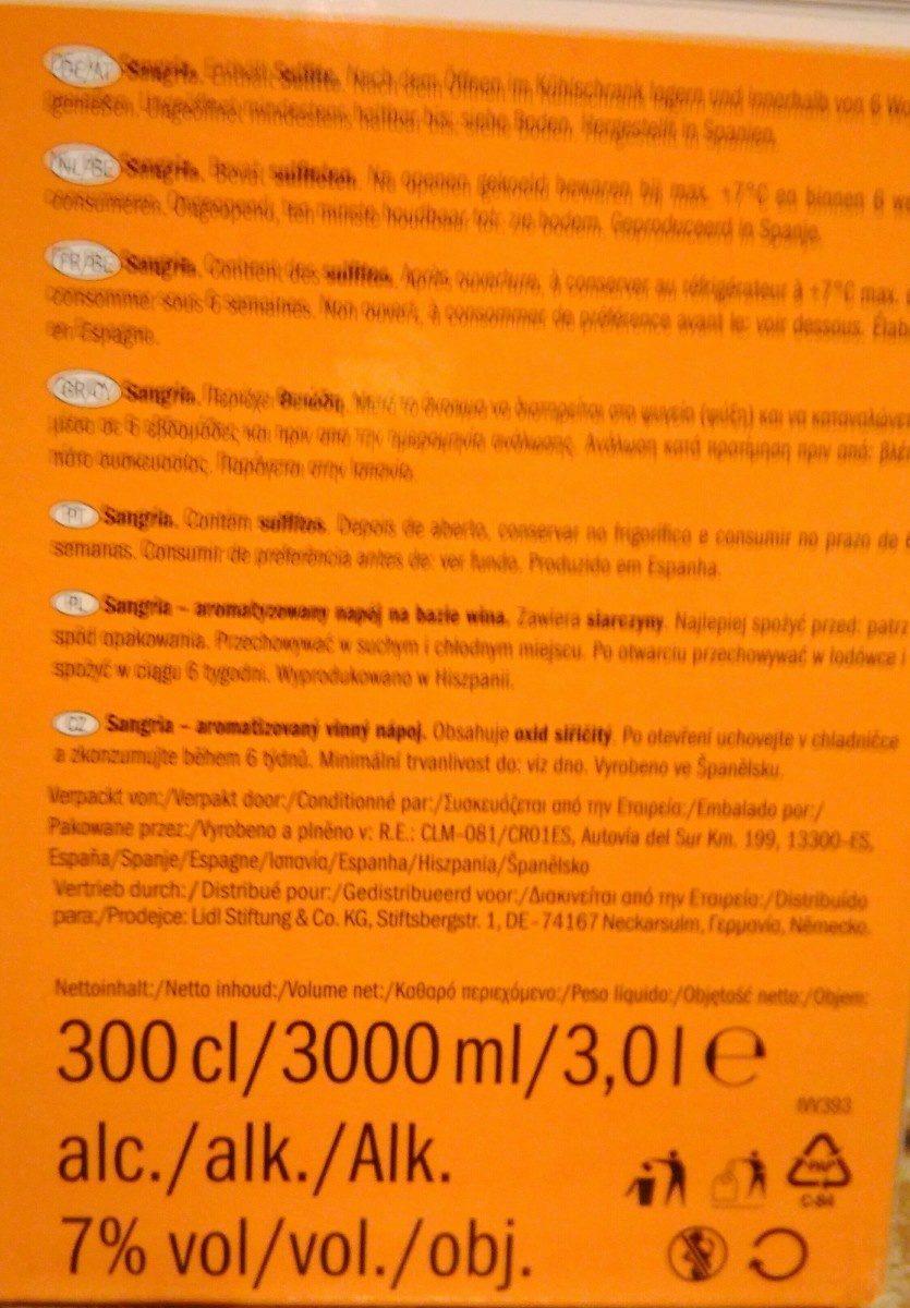 Sangria - Ingredients