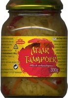 Atjar tjampoer - Producto