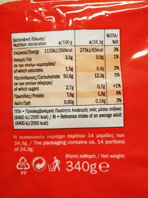 Σταρένιο - Nutrition facts - el