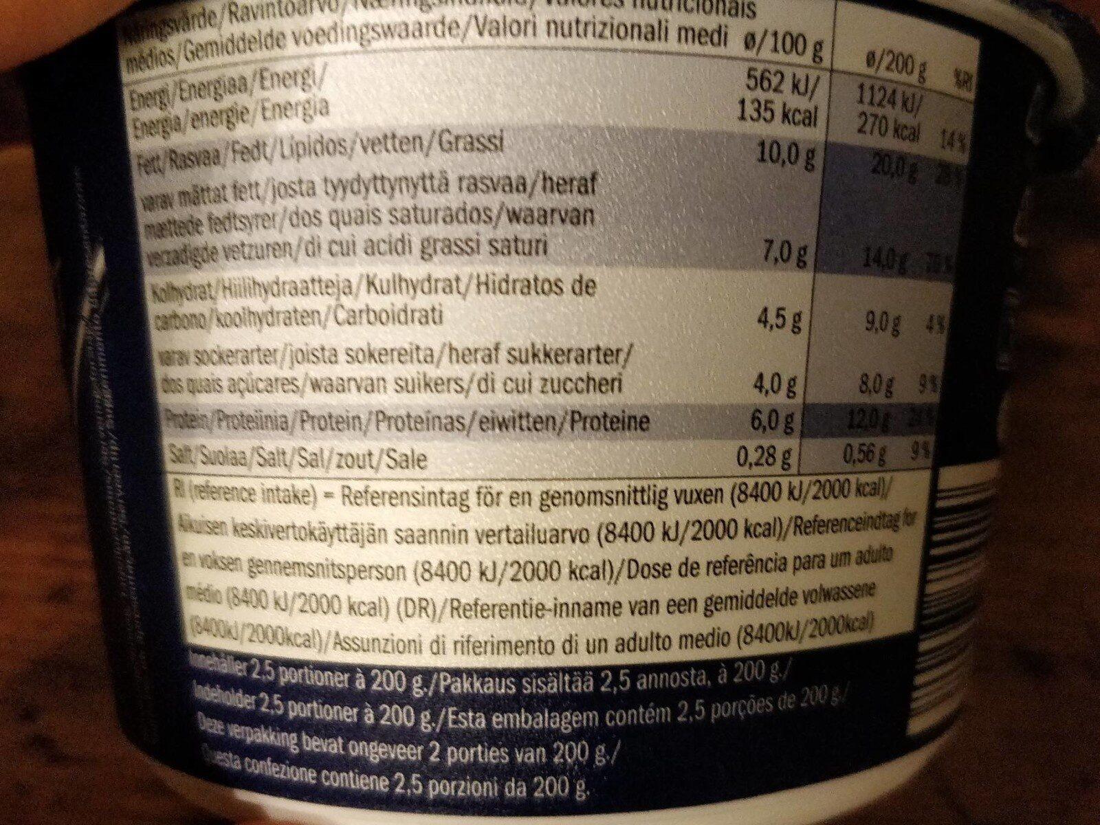 Greek yogurt creamy - Nutrition facts