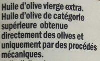 Huile d'olive vierge extra d'Espagne - Ingrédients - fr