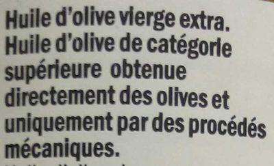 Huile d'olive vierge extra d'Espagne - Ingrédients