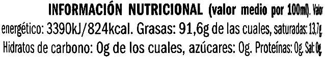 "Aceite de oliva virgen extra ""Oli Sone"" - Informations nutritionnelles - es"