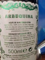 Olisone aceite virgen extra picual - Ingrediënten