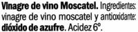 Vinagre de Moscatel - Ingredientes