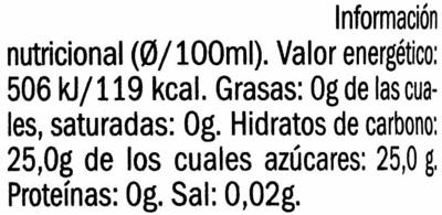 Vinagre de Moscatel - Información nutricional