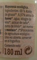 Bio Mayonaise - Ingredients