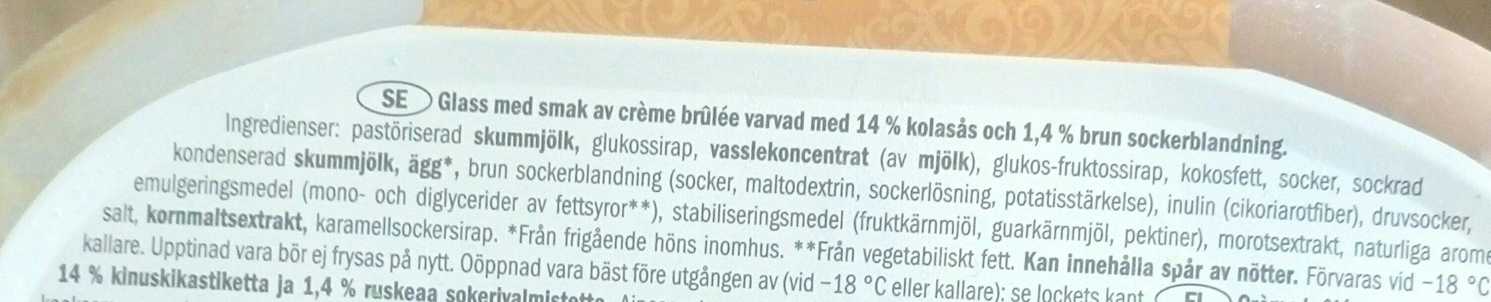 Noblissima Creme Brulee - Ingrédients - fr