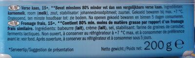 Goldessa Soft Cheese Light** - Ingredients - nl