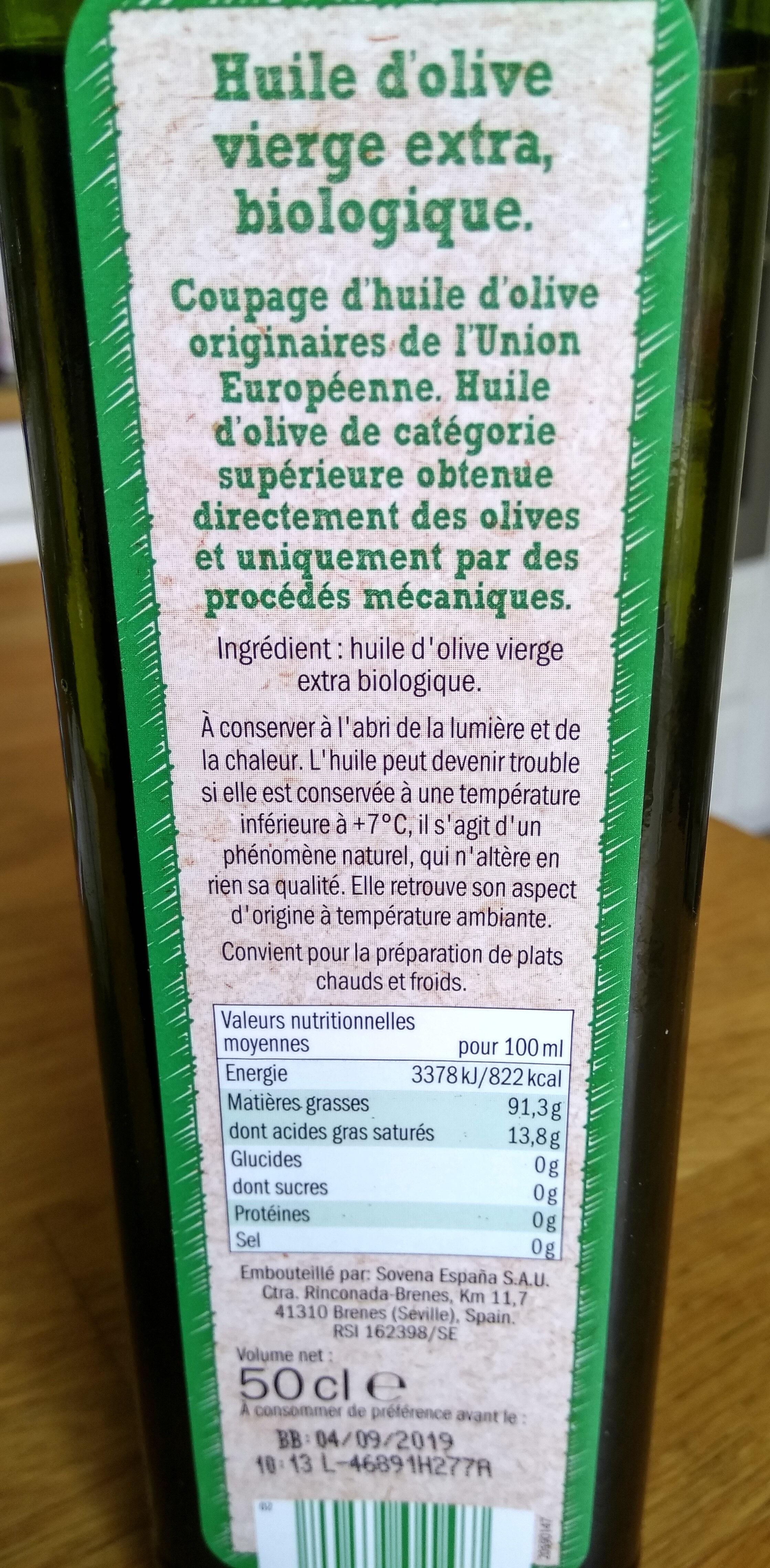 Bio Huile d'olive vierge extra - Ingredients