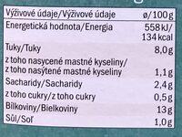 Smoked tofu - Výživové údaje - cs