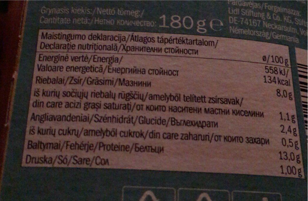 Smoked tofu - Valori nutrizionali - lt