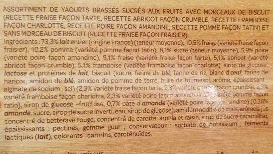 yaourts patissiers - Ingrediënten - fr