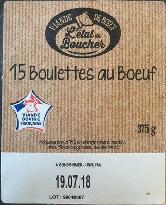 15 Boulettes au Bœuf - Product