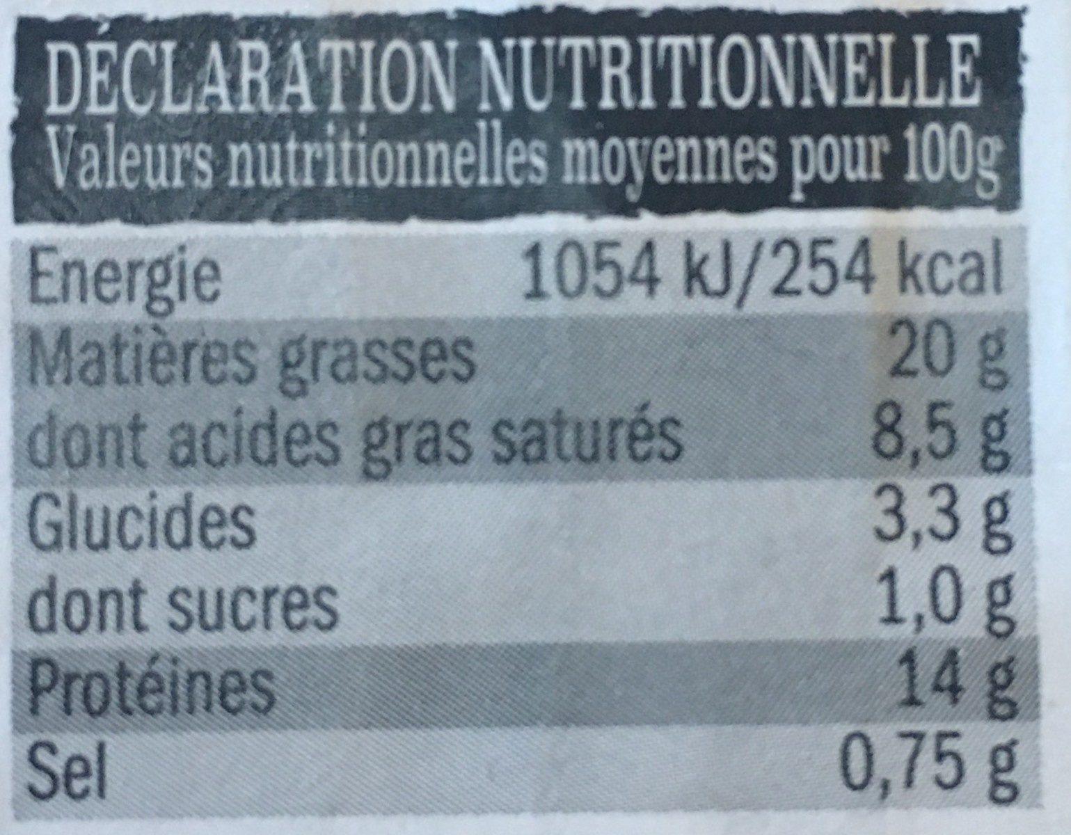 15 Boulettes au Bœuf - Nutrition facts